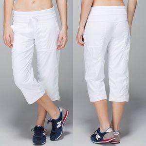 Lululemon Studio Crop Dance Pants Liner White Sz 4